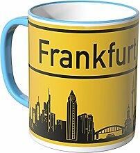 WANDKINGS® Tasse, Skyline Frankfurt - BLAU