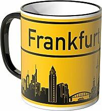 Wandkings® Tasse, Skyline Frankfurt - SCHWARZ