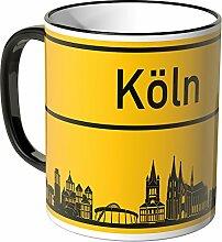 WANDKINGS® Tasse, Skyline Köln - SCHWARZ