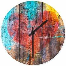 Wandkings Wanduhr mit farbenfrohen Motiven - Wähle ein Motiv - Grafitti Herz