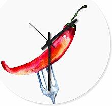 Wandkings Wanduhr mit farbenfrohen Motiven - Wähle ein Motiv - Chili