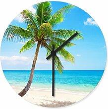 Wandkings Wanduhr mit traumhaften Motiven - Wähle ein Motiv - Lonely Palm Tree