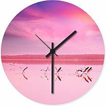 Wandkings Wanduhr mit traumhaften Motiven - Wähle ein Motiv - Pink Flamingos