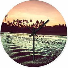 Wandkings Wanduhr mit traumhaften Motiven - Wähle ein Motiv - Sunset Beach Panorama