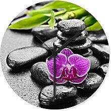 Wandkings Wanduhr mit traumhaften Motiven - Wähle ein Motiv - Wellness Orchidee