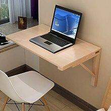 Wandklapptisch, Massivholz Schreibtischlack