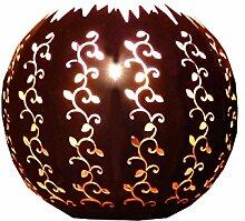 Wandkugel halbe Kugel Durchmesser 30cm aus Blech gefertig
