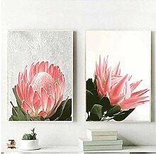 Wandkunst Anpassen Nordic Aquarell Blumen