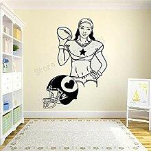 Wandkunst Aufkleber Frauen Fußball Dekoration