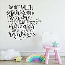 Wandkunst Aufkleber Kidsroom Dekoration Tanz Mit