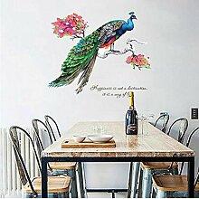 Wandkunst Aufkleber pfau Wohnkultur adesivo de