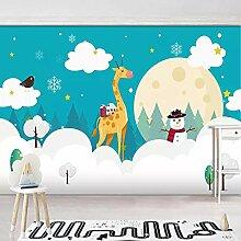 Wandkunst Cartoon Handgemalte weiße Wolken