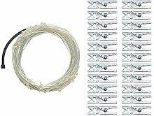 Wandlampe 10 m – 100 Clips LED Girlande Foto