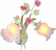 Wandlampe 2 Flammig,Rustikale Stil Blumen