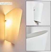 Wandlampe Acerra aus Glas in Weiß, moderne