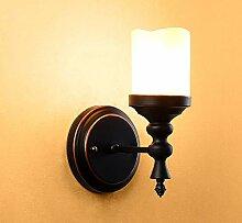 Wandlampe-American Retro Single-Kopf-Kerze Lampe,