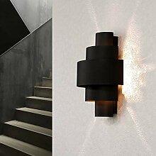 Wandlampe Anthrazit Aluminium Lichtmuster E14