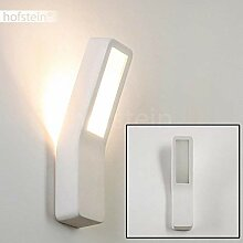Wandlampe Arrone aus Keramik in Weiß, Wandleuchte