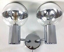 Wandlampe aus Chrom von Motoko Ishii für Staff,