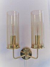 Wandlampe aus Messing von Hans Agne Jakobsson