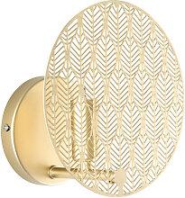Wandlampe aus Metall, goldfarben