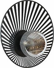 Wandlampe aus schwarzem Draht mit