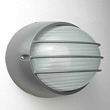 Wandlampe Außen Anthrazit IP44 Ziergitter E27