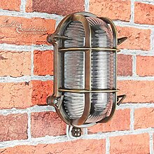 Wandlampe Außen Antik Echt-Messing Rostfrei IP64