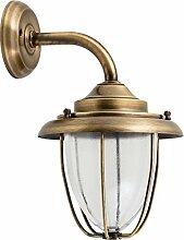 Wandlampe Außen aus Glas Messing rostfrei