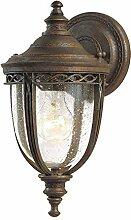 Wandlampe Außen in Bronze aus Stahl IP44 Rustikal