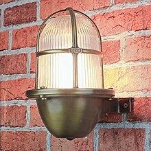 Wandlampe Außen rustikal Gitter Schirm