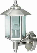 Wandlampe Außenleuchte Außenlampe Erde Edelstahl IP44 LED geeignet Wandleuchte Lampe