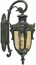 Wandlampe Braun Metall Glas IP44 Haus Rustikal