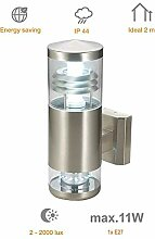 Wandlampe Calypso LED Edelstahl Wandleuchte