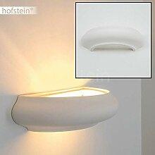 Wandlampe Castiglione aus Keramik in Weiß,