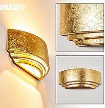 Wandlampe Chioggia aus Keramik in Gold,