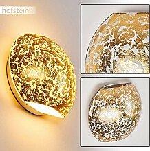 Wandlampe Concha aus Metall/Glas in Gold, runde