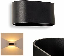 Wandlampe Dapp aus Metall in Schwarz, moderne