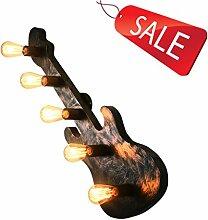 Wandlampe Eisen Kunst Retro Gitarre Industrie Wind