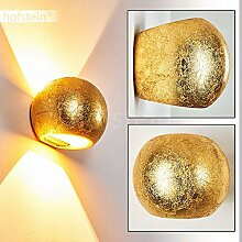 Wandlampe Flot aus Keramik in Gold, Wandleuchte