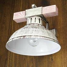 Wandlampe Flur in Shabby Chic Weiß HAKON mit Echt