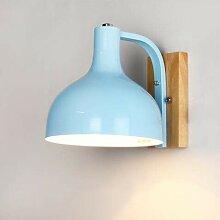 Wandlampe Hängen Eisen Holz Strahler E27 Schalter