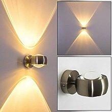 Wandlampe halbrund - Effekt-Licht aus Metall in