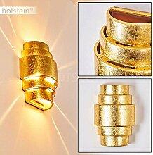 Wandlampe Handan aus Keramik in Gold, Wandleuchte