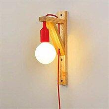 Wandlampe Holz Mit Schalter Wandleuchte