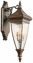 Wandlampe in Bronze IP44 Vintage groß H:79cm