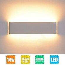 Wandlampe Innen LED 14W/36cm Wandleuchte Innen,