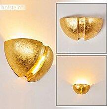 Wandlampe Kawasaki aus Keramik in Gold,