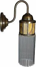 Wandlampe Lampe Wandleuchter Messing Glas Art Deco