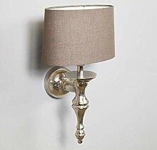 Wandlampe Lampenschirm Aluminium Silber Poivre Oval